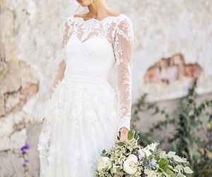 wedding, beautiful, and wedding dress image