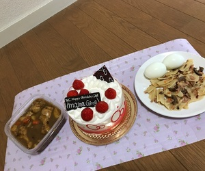 cake, Chicken, and curry image