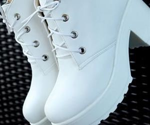 boots, white, and fashion image