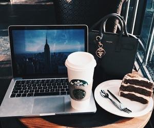 starbucks, coffee, and cake image