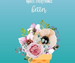 flowers, food, and quotes image