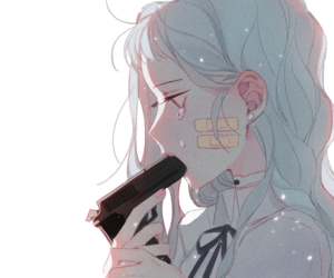 art, gun, and anime image