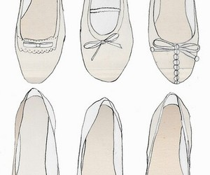shoes, drawing, and ballet image