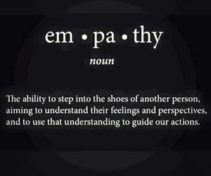 definitions, empathy, and words image
