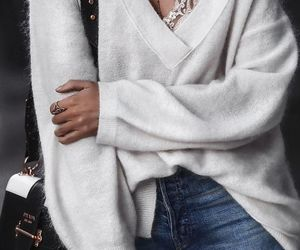 clothes, fall fashion, and off the shoulder sweater image
