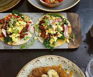 brunch, egg, and tacos image