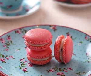 macaroons, macarons, and pink image