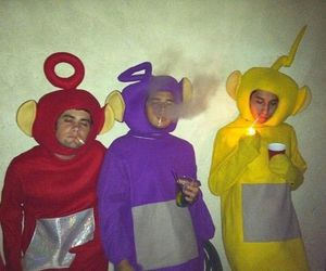 smoke, teletubbies, and cigarette image