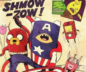 Avengers and aventure time image