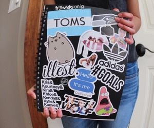 book, cool, and stickers image