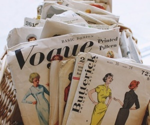 vogue, vintage, and magazine image