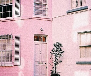 pink, pastel, and house image