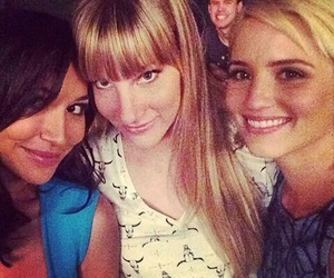 glee, heather morris, and dianna agron image