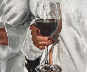 art, wine, and painting image
