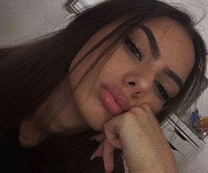 beauty, beleza, and brunette image