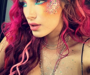 bella thorne, glitter, and pink image