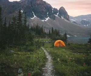 camping, goals, and nature image