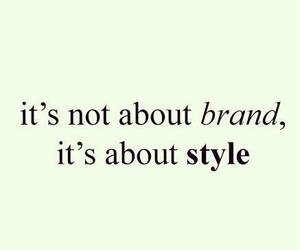 style, brand, and quote image