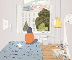art, drawing, and room image