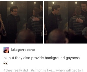 gay, OMG, and simon lewis image