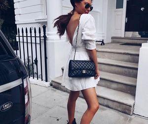 bag, chanel, and dress image