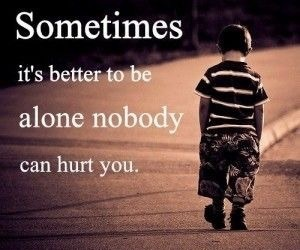 alone and hurt image