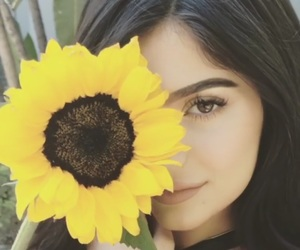 kylie jenner, flowers, and sunflower image