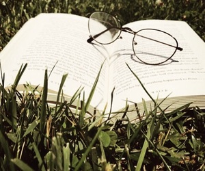 book, calm, and grass image