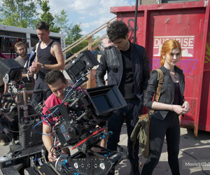 behind the scenes, clary, and red image