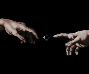 art, hands, and black image