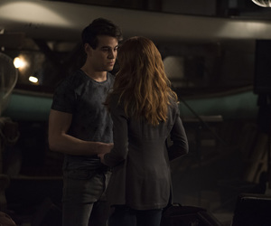 clary fray, simon lewis, and shadowhunters image