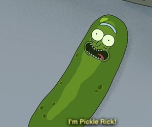 pickles, sanchez, and rick and morty image