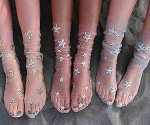 stars, girl, and socks image
