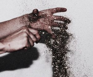 aesthetics, glitter, and hands image