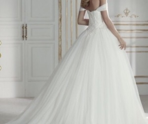 gown, pretty, and wedding dress image
