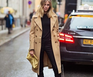 camel, coat, and look image
