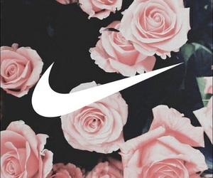 flowers, roses, and nike image