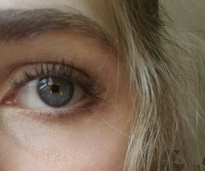 blond hair and eyes image