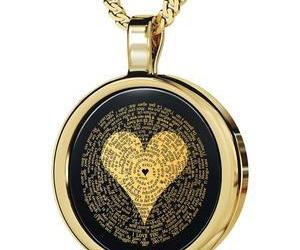 gold jewelry, necklace, and gifts for her image
