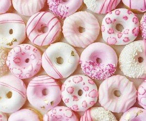 doughnuts, sweet, and pink image