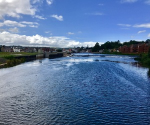 blue, sky, and river image