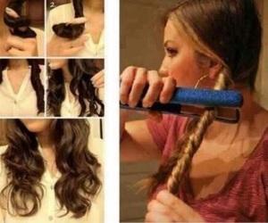 beautiful, hair, and straightener image