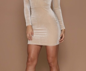 dress, Nude, and outfits image