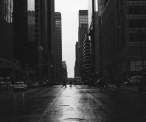 black, city, and white image