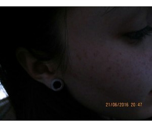 freckles, girl, and grunge image