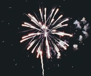 explosion, feu, and fireworks image