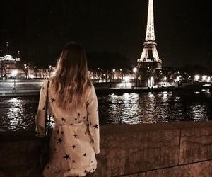 paris, dark, and eiffel tower image