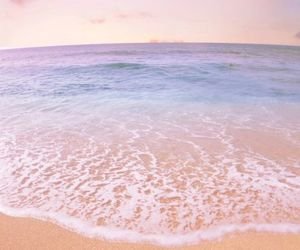beach, morning, and sand image
