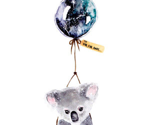 balloon, watercolor, and far away image