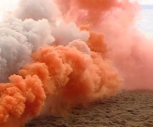 fruit, peach, and smoke image